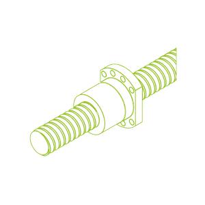 Vite a ricircolo di sfere con chiocciola flangiata KGT-F