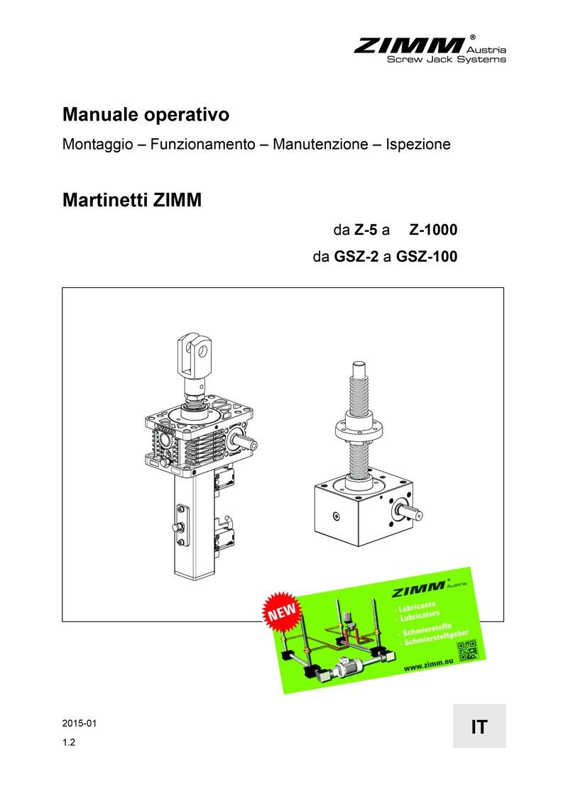 Manuale operativo | Martinetti meccanici | Italiano