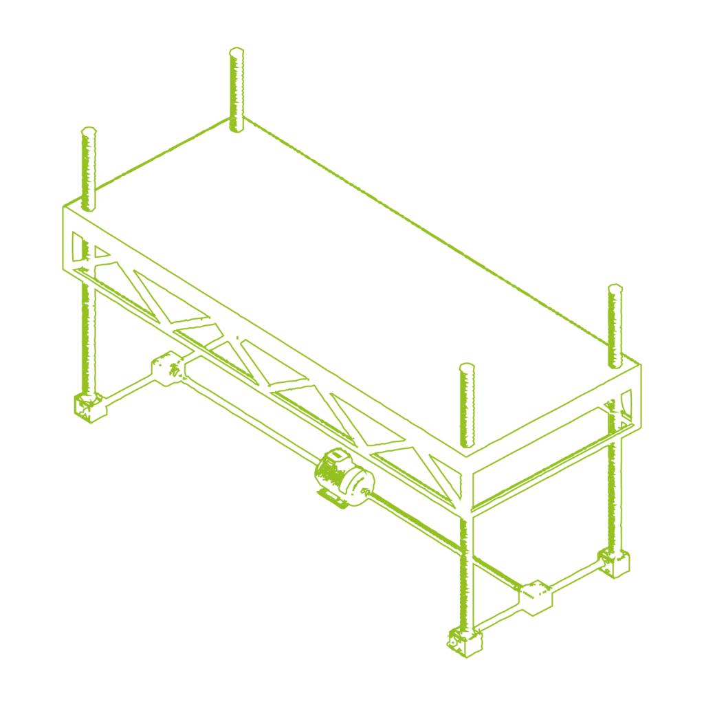 Regolazione dell'altezza di una piattaforma