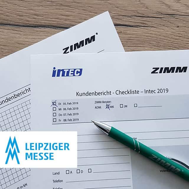 ZIMM era presente alla fiera Intec 2019 a Lipsia