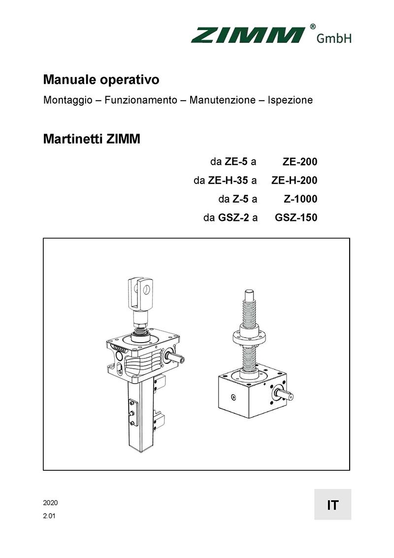 Manuale operativo 2.0 | Martinetti meccanici | Italiano