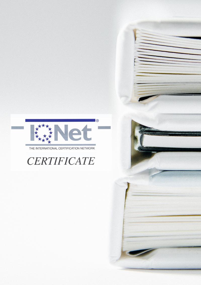 IS09001_Certificate International